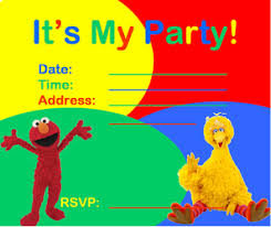 sesame street invitations party inspiration board