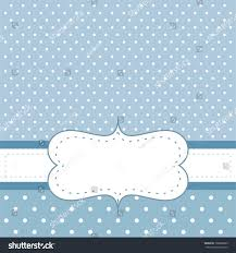 sweet blue dots card invitation white stock vector 106688069