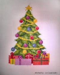 christmas tree cross stitch pattern tree