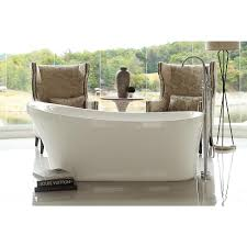 Lucite Bathtub Calm 5 6 Ft Acrylic Slipper Flatbottom Non Whirlpool Bathtub In