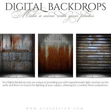 digital backdrops ashe design digital backdrops 16x20 corrugated metal