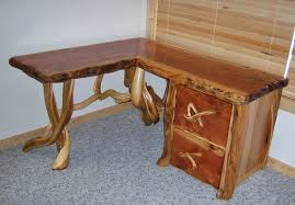 Custom Made Office Furniture by Custom Made Desks Rustic Desk Live Edge Cabin Furniture