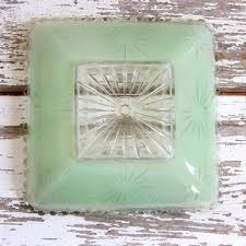 Glass Bathroom Light Shades Shop Vintage Glass Ceiling Shades On Wanelo