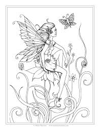 fairy coloring pictures adults books bobble fairy