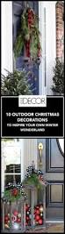 Unique Outdoor Christmas Decorations by Front Porch Christmas Decorating Ideas Country Mini Lights Idolza