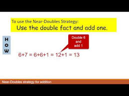 doubles fact near doubles strategy for addition