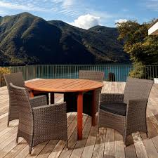 Outdoor Deck Furniture by Eucalyptus Patio Dining Furniture Patio Furniture The Home Depot