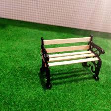 amazon com garden patio furniture park bench 1 24 dollhouse