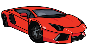 cartoon car back how to draw lamborghini aventador a car easy step by step