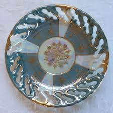 vintage set 6 pearlized and gilt tea cups ohashi
