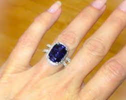 sapphire halo engagement rings sapphire halo ring etsy
