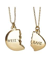 east egg east and west egg gatsby bestie necklace out of print