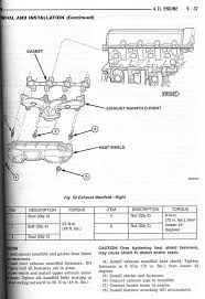 2004 dodge ram 1500 intake manifold exhaust manifold torque