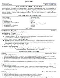 sample resume for fresher civil engineer civil engineering project