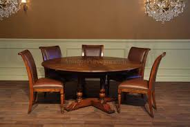 round dining table with hidden chairs with design picture 4712