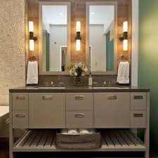 lighting rustic bathroom vanity lights with bath mirror and