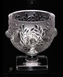 Lalique Vases Ebay Lalique Crystal Vase Elizabeth 12265 Ebay
