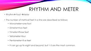 Feet In A Meter Poetry Unit Ppt Video Online Download