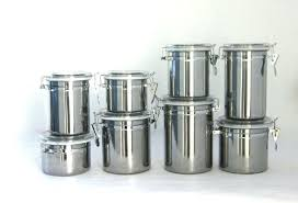 kitchen canisters stainless steel stainless steel kitchen canisters food containers storage