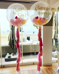 jumbo balloons signature clear jumbo 3ft with mini balloons inside