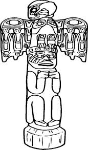 strikingly idea totem pole colouring pages 13 printable totem pole