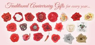 anniversary gifts by year just paper roses