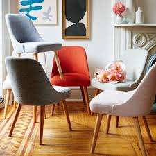 Dining Chairs In Living Room Mid Century Upholstered Dining Chair West Elm