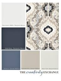 choosing a paint color palette using fabric inspiration fabrics