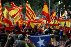 Barcelona Spain Flag Spain Catalonia Clash Over Policing As Illegal Independence Vote