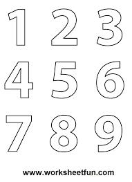 coloring numbers 1 10 shishita world com