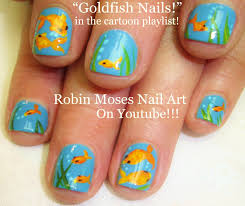 nail art for short nails diy easy goldfish design tutorial