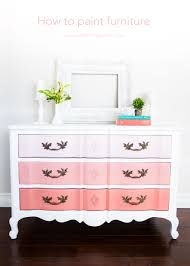 Wooden Furniture Paint How To Paint Furniture And Ombre Dresser Diy Ombre Paint