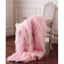 light pink fur blanket shabby baby pink fur satin ribbon ruffle roses chic throw soft cozy