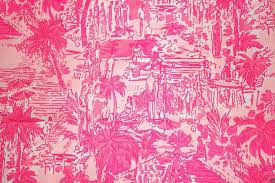lilly pulitzer pink rule breakers cotton dobby fabric from