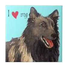 belgian sheepdog tattoo i love shepherd ceramic tiles zazzle