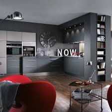 cuisine gris foncé cuisine grise