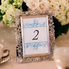 silver frames for wedding table numbers the table numbers displayed in silver frames incorporated the same
