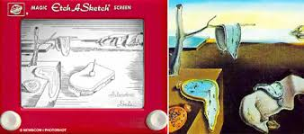 the world u0027s greatest paintings on etch a sketch don u0027t panic
