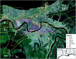 Elevation Map Of New Orleans by Using New Orleans Pumping Data To Reconcile Gauge Observations Of