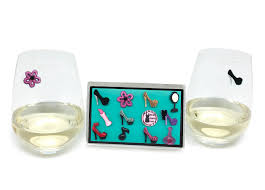 cartoon wine glass girls night out wine glass charms for stemless glasses u2013 simply