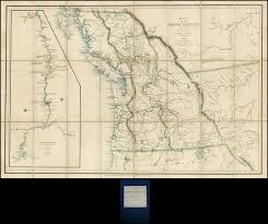 map of oregon country 1846 oregon territory on oregon primary destiny