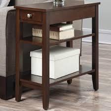narrow bedside table wayfair