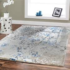 Modern Rugs 8x10 Premium Rug Large Rugs For Dining Rooms 8 By 11 Blue