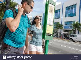 Miami Beach Bus Map Miami Beach Florida Bus Stop Public Transportation Route Map Info