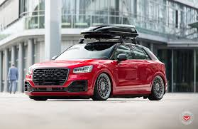 slammed audi wagon audi q2 slammed with vossen wheels shows potential performancedrive