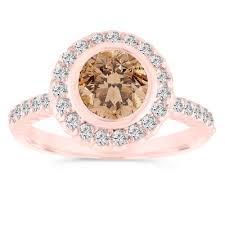 brown diamond engagement ring 1 25 carat fancy chagne diamond engagement ring brown diamond