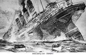 sinking of the lusitania lusitania ship drawing clipartxtras