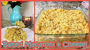 baked macaroni u0026 cheese recipe gluten u0026 dairy free youtube