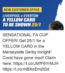 Everton Memes - new customer offer liverpool v everton a yellow card to be shown 251