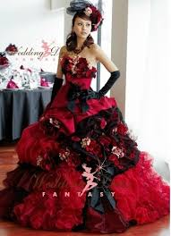 Red And Black Wedding Red Wedding Dresses